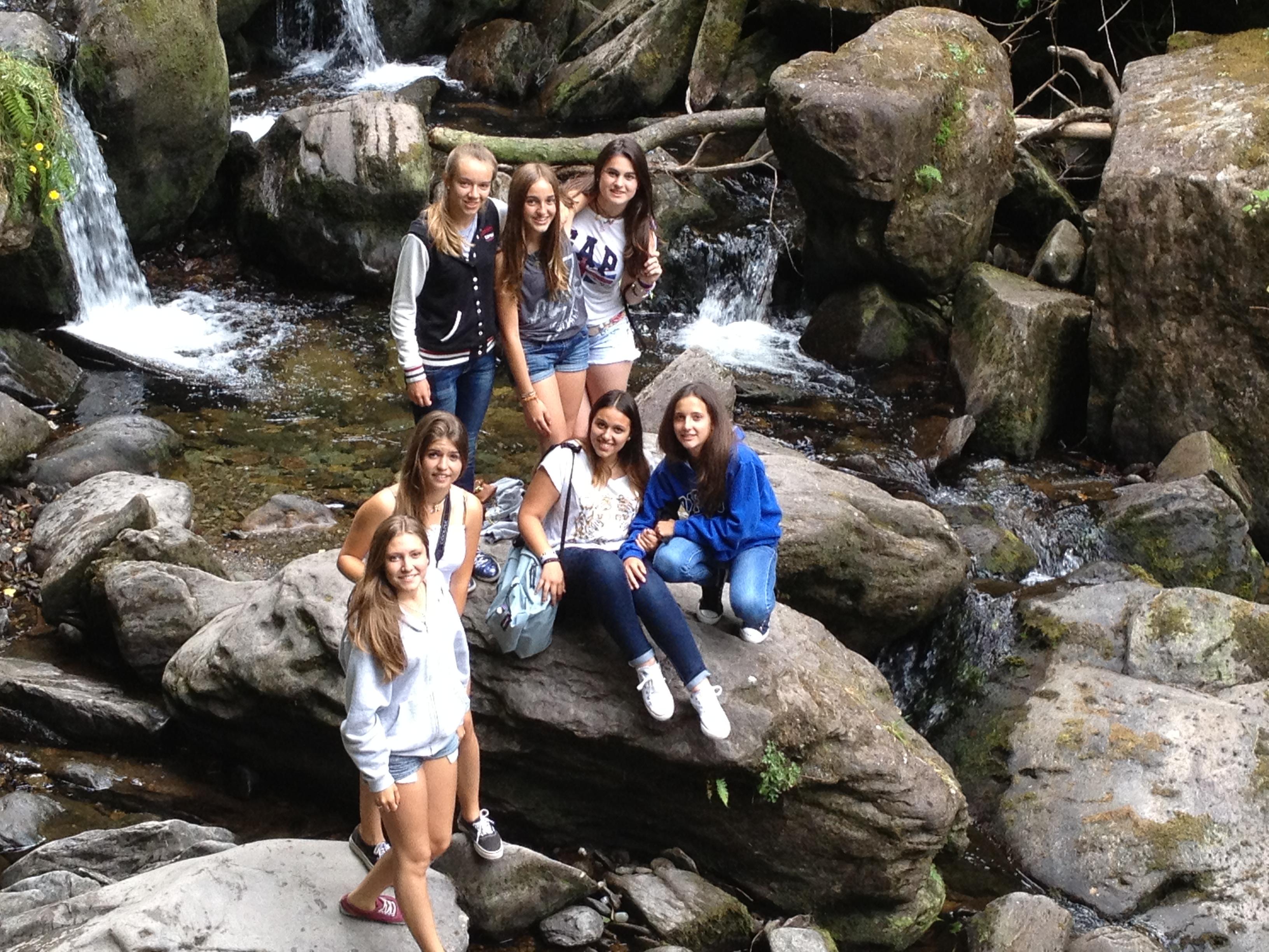 Estudiantes del Curso de ingles en verano