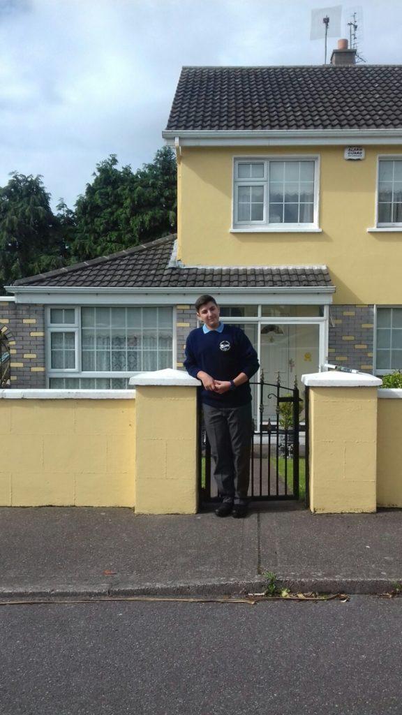 Iker en su casa de Cobh